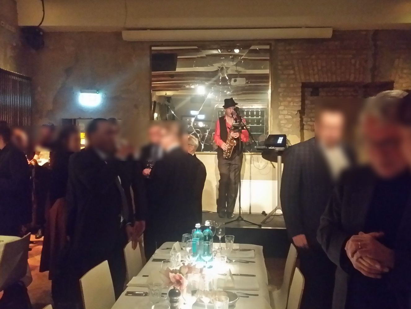 """""""SAX & VOICE"""" bei einem Empfang im """"The Grand"""" in Berlin"""